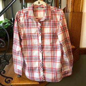 North Face Plaid Soft Cotton Button Down L